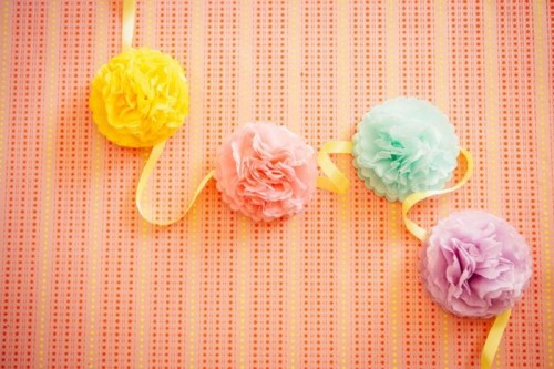 Colorful And Easy DIY Pom Pom Wedding Backdrop