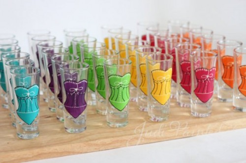 Colorful Bridesmaid Shot Glasses You Can Make By Yourself