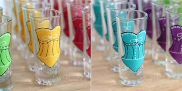 Colorful Bridesmaid Shot Glasses