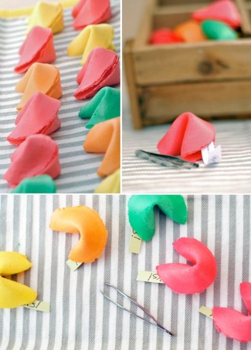 Colorful Diy Fortune Cookie Wedding Favors
