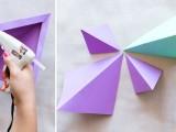 Colorful Diy Geometric Paper Backdrop