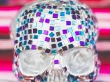 colorful-diy-mosaic-skull-wedding-centerpiece-7
