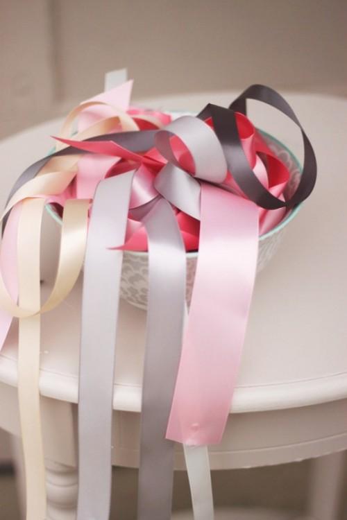 Colorful DIY Ribbon Wedding Ceremony Backdrop