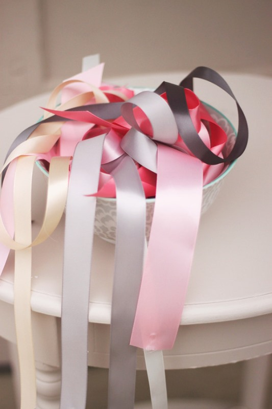 Picture Of colorful diy ribbon wedding ceremony backdrop  2