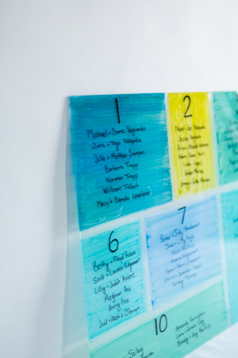 Picture Of colorful diy stained glass seating chart  2