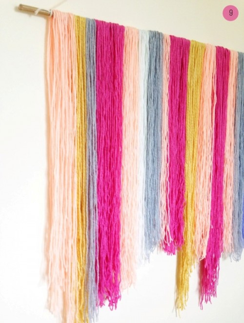 Colorful Diy Yarn Hanging Wedding Backdrop