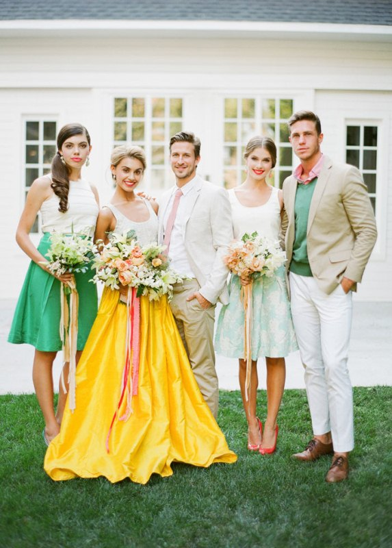 Picture Of colorful retro cuban inspired wedding shoot  1