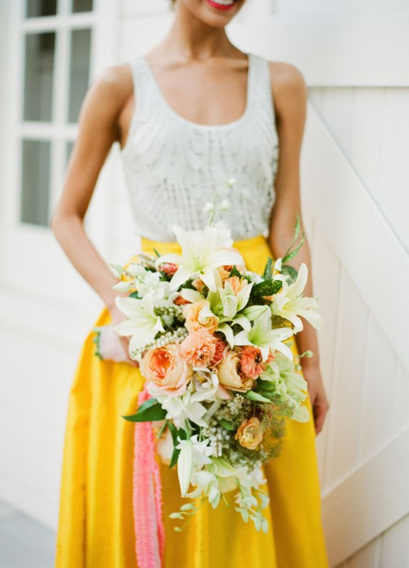 Picture Of colorful retro cuban inspired wedding shoot  10