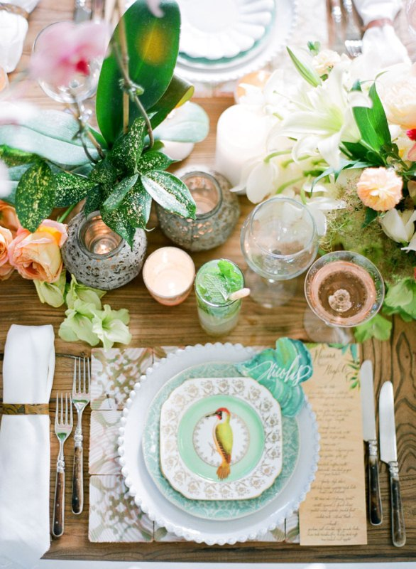 Picture Of colorful retro cuban inspired wedding shoot  11