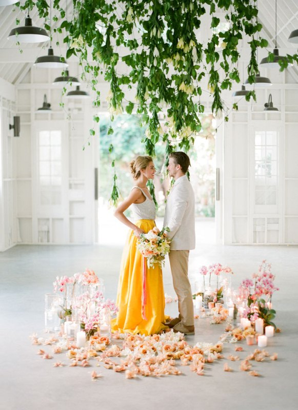Picture Of colorful retro cuban inspired wedding shoot  12