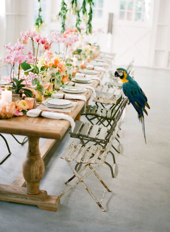 Picture Of colorful retro cuban inspired wedding shoot  13