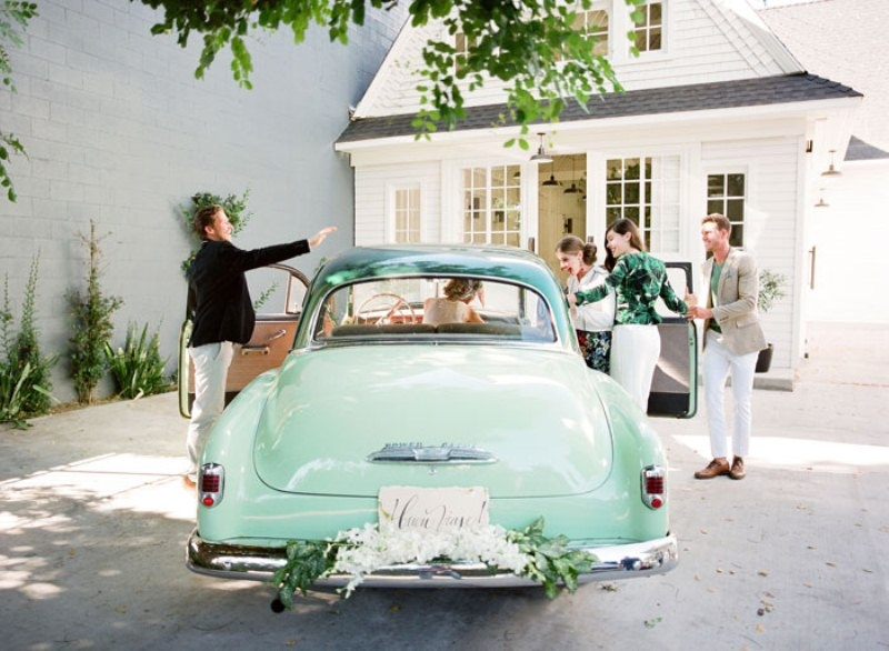Picture Of colorful retro cuban inspired wedding shoot  17