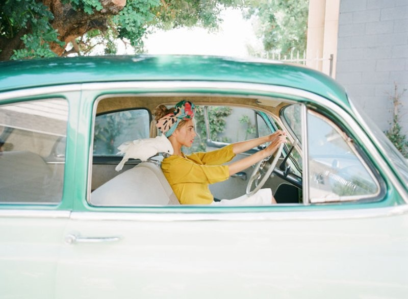 Picture Of colorful retro cuban inspired wedding shoot  8