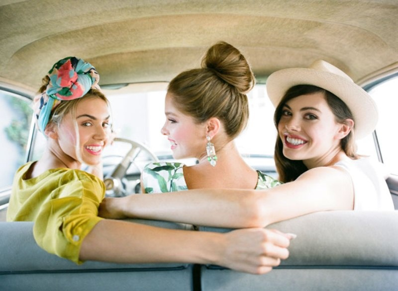 Picture Of colorful retro cuban inspired wedding shoot  9