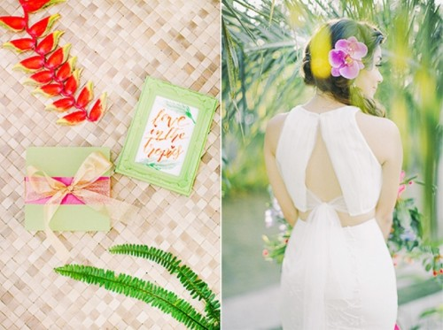Colorful Tropical Destination Wedding Shoot