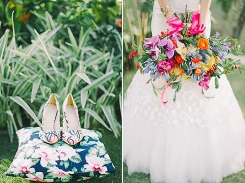 Colorful Tropical Destination Wedding Shoot