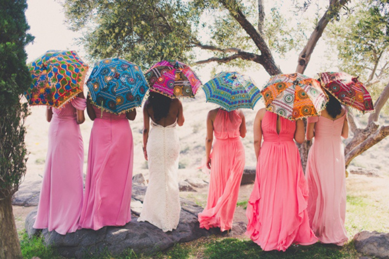 Picture Of colorful wedding in arizonas most beautiful arcosanty  1