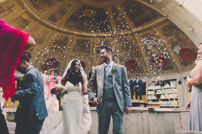 Picture Of colorful wedding in arizonas most beautiful arcosanty  9