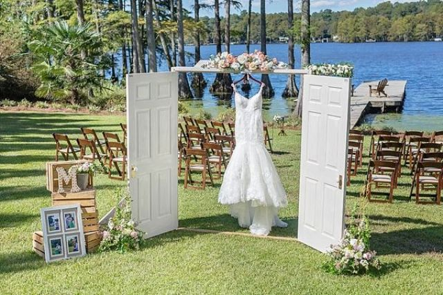 Picture Of completely diy rustic lakeside wedding  1