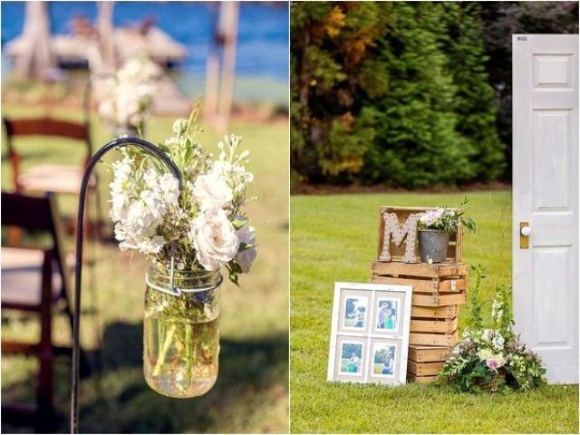 Picture Of completely diy rustic lakeside wedding  12