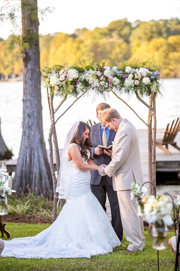 Picture Of completely diy rustic lakeside wedding  13