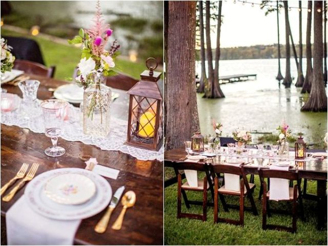 Picture Of completely diy rustic lakeside wedding  17