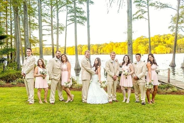 Picture Of completely diy rustic lakeside wedding  7