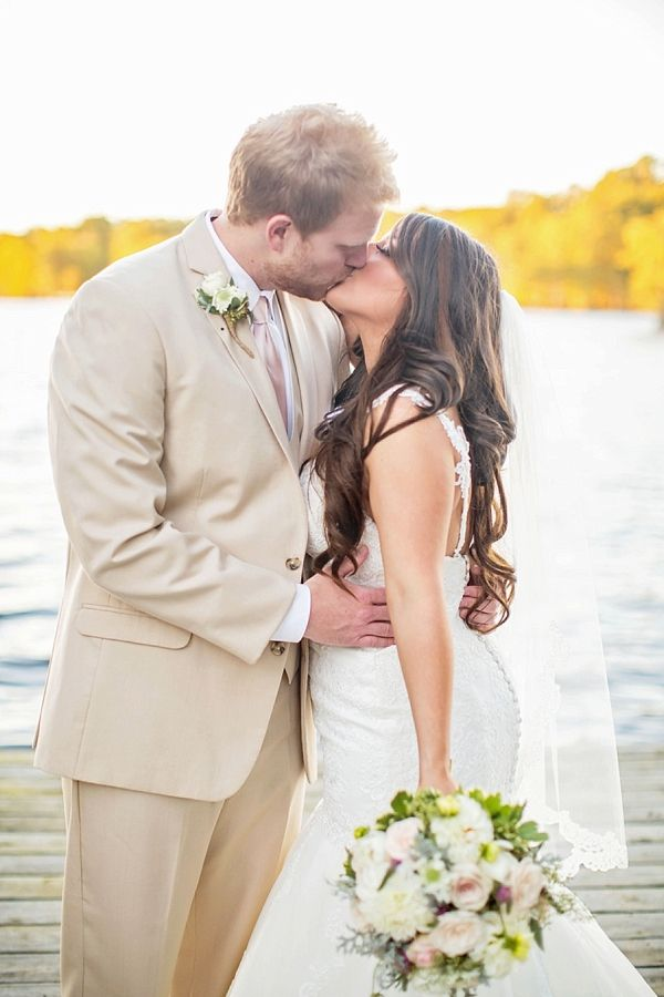 Picture Of completely diy rustic lakeside wedding  8