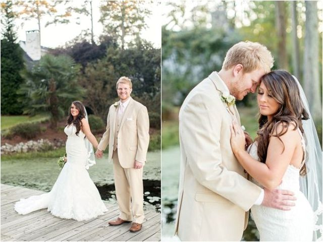 Picture Of completely diy rustic lakeside wedding  9