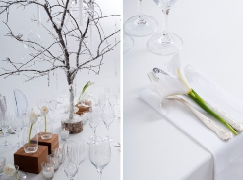 Contemporary and minimalist winter wedding styled shoot for 500 decoration details minimalism