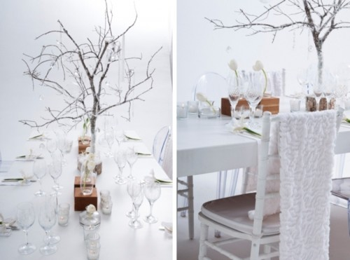 Contemporary And Minimalist Winter Wedding Styled Shoot