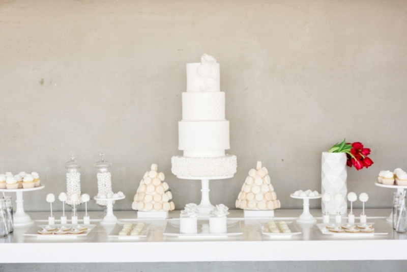 Picture Of contemporary show white winter wedding inspiration  17