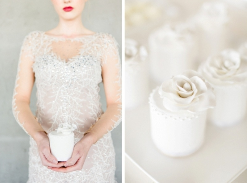 Picture Of contemporary show white winter wedding inspiration  21