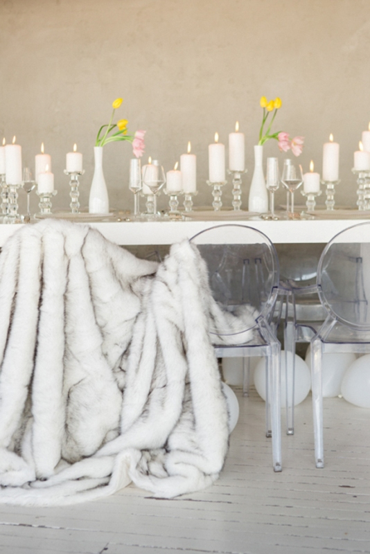 Picture Of contemporary show white winter wedding inspiration  9