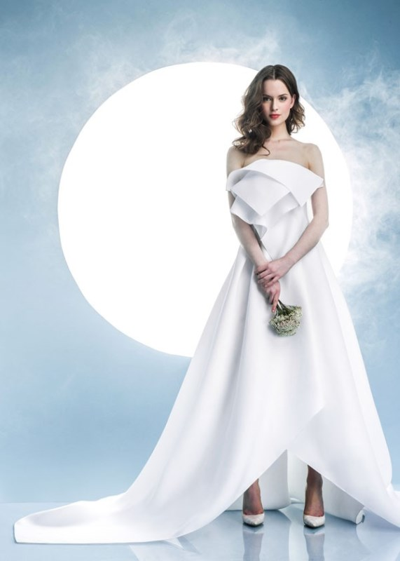 Picture Of contemporary spring 2016 bridal dresses collection from angel sanchez  6