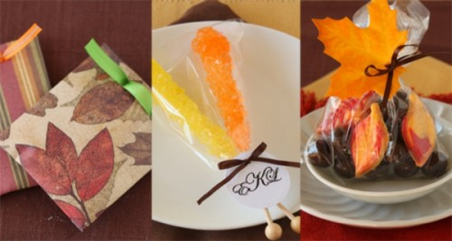 candies in fall envelopes (via ohnuts)