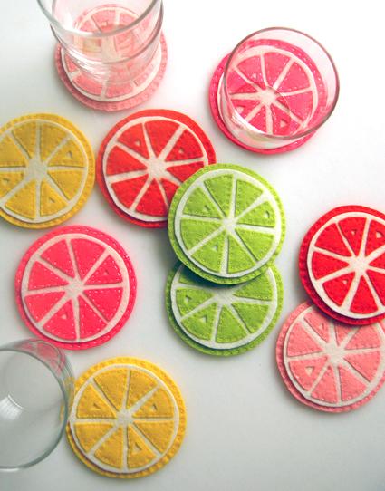 citrus coasters (via purlbee)