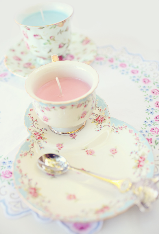 teacup candle wedding favors