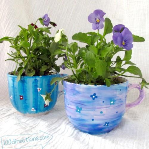 teacup flower pots (via shelterness)