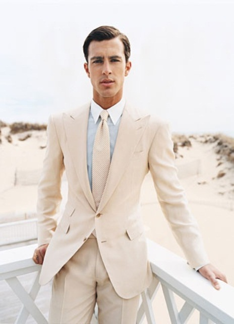 Cool Beach Wedding Groom Attire