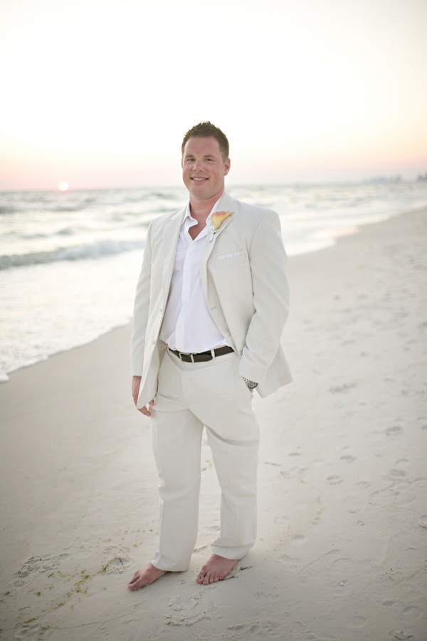 wedding ideas grooms attire beach