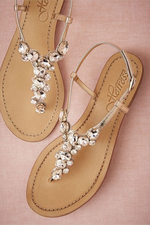 6f3ab74e2134 33 Cool Beach Wedding Sandals - Barefoot And Not Only - Weddingomania