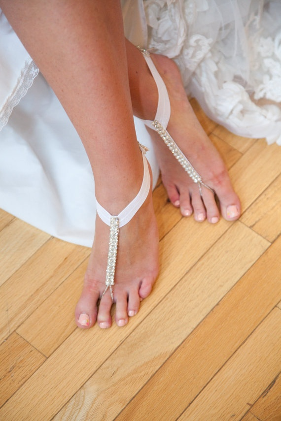 d9033130ade 33 Cool Beach Wedding Sandals - Barefoot And Not Only - Weddingomania