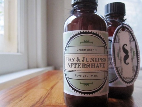 Cool DIY Aftershave Favors For Your Groom's Dudes