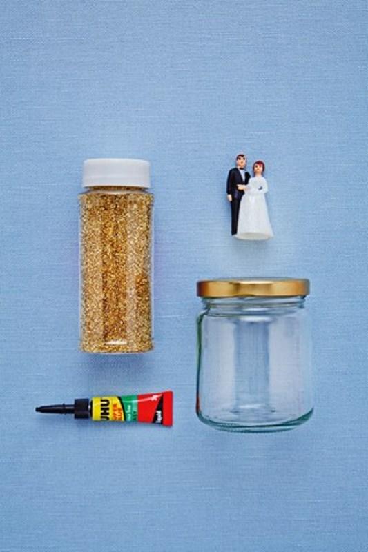 Cool Diy Jam Jar Glitter Globes For Your Winter Wedding Guests