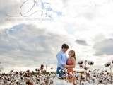 photos taken in a cotton field look super cute and very cozy, they will add  a warming rustic touch