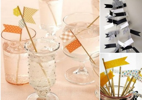 Cool Washi Tape Wedding Decor Ideas