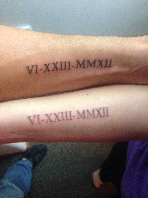 30 Cool Wedding Date Tattoos To Get Inspired Weddingomania