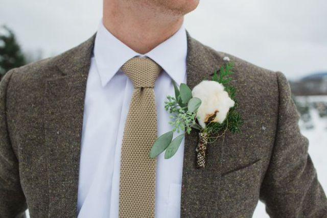 Wedding Suit Ideas For Groomsmen : Cool Winter Wedding Grooms Attire Ideas Weddingomania