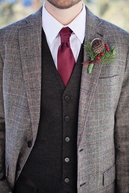 Wedding Suit Ideas For Groomsmen : 37 Cool Winter Wedding Groom s Attire Ideas Weddingomania